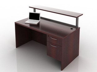 Cherryman Amber Reception Desk With Marble Top Office