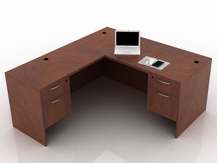 OFW TL L-Shape Desk with BF 30x66