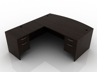 OFW TL L-Shape Desk with BF 36x72