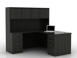 OFW TL L-Shape Desk with Hutch BBF & FF 30x66