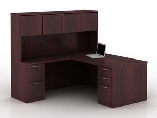 OFW TL L-Shape Rectangular Desk with Hutch BBF & FF 36x72