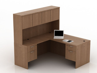 OFW TL L-Shape Desk with Hutch BF 30x66