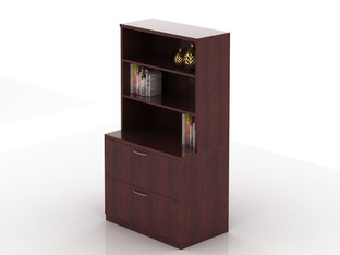 OFW TL 2 Drawer Lateral File with Open Hutch