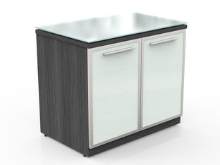 OFW VL 2 Door Storage with Glass Top