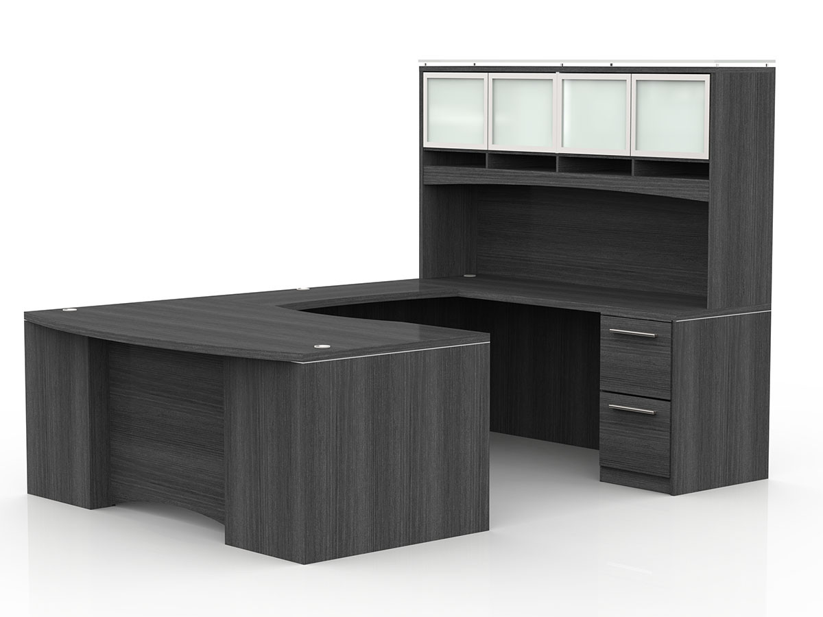 Surprising Ofw Vl U Shape Desk With Hutch And Laminate Front Office Download Free Architecture Designs Grimeyleaguecom