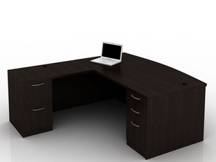 OFW TL L-Shape Desk with BBF & FF 36x72
