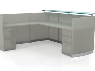 Mayline - Medina L-Shape Reception Desk with Return BBF & FF