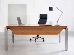 Gautier Sliver -  L-Shape Desk -Laminate Top