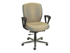 Non-Stop Heavy Duty chair, size 3, fixed loop arms, polished aluminum base