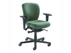 Non-Stop Heavy Duty chair, Momentum Perpetual Fern, adjustable arms, black base