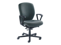 Non-Stop Heavy Duty chair, size 3, fixed loop arms, black base