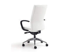 ReAlign highback chair, SitOnIt Seating Element Chalk, loop arms, black base