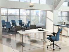ReAlign conference chair, Achieve side chair, Composium settee - Open Office