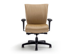 Glove Active highback chair, Momentum Silica Ginger, adjustable arms, black base