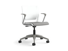 Rio light task chair, frost shell, fog arms & base