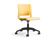 Rio light task chair, honeycomb shell, upholstered seat, SitOnIt Seating Code Caution, black base