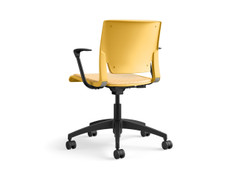 Rio light task chair, honeycomb shell, fully upholstered, SitOnIt Seating Code Caution, black base