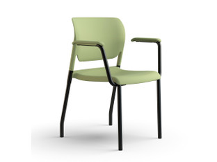 InFlex multipurpose chair, sage shell, black frame finish