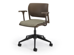 InFlex light task chair, chocolate shell, SitOnIt Seating Horizon Twilight, chocolate frame finish, black base