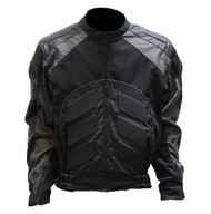 GRAY MENS ARMOR LEATHER BIKER MOTORCYCLE JACKET - D50