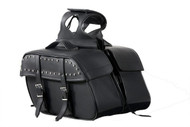 "16"" W x 9"" H MOTORCYCLE WATERPROOF SADDLEBAGS w/ STUDS -DA9"