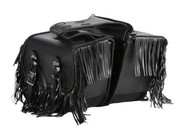 "14"" W x 10"" H MOTORCYCLE WATERPROOF SADDLEBAGS w/ FRINGES - DA28"