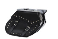 "14"" W MOTORCYCLE WATERPROOF STUDDED SLANTED SADDLEBAGS - DA29"