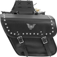 "14"" W x 12"" H MOTORCYCLE WATERPROOF STUDDED SADDLEBAGS - DA45"