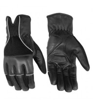 MOTORCYCLE GENUINE LEATHER RIDING GLOVES w/ GEL PADDING - MA7