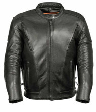 MENS VENTED SCOOTER JACKET w/ SIDE LACES - SA45