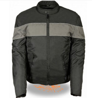 MENS  TEXTILE JACKET w/ REFLECTIVE STRIPES - SA82