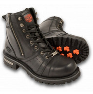 MENS LACE BOOT w/ CONTRAST STITCHING - SA72