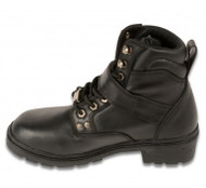 WOMENS SIDE BUCKLE PLAIN TOE BOOT - SA75
