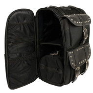 "2PC LARGE 21"" STUDDED SISSY T BAR TOUR BAG w/ RAIN COVER - SA20"