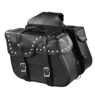 "15"" W x 11"" H MOTORCYCLE WATERPROOF STUDDED SADDLEBAGS - SA86"