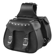 "13"" W x 10"" H MOTORCYCLE WATERPROOF STUDDED SADDLEBAGS - SA87"