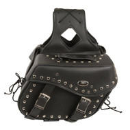 "13"" W x 10"" H MOTORCYCLE WATERPROOF STUDDED SADDLEBAGS- SA4"