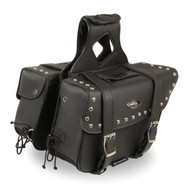 "12"" W x 9"" H MOTORCYCLE WATERPROOF STUDDED SADDLEBAGS - SA7"