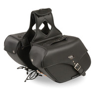 "12"" W MOTORCYCLE WATERPROOF SADDLEBAGS w/ REFLECTIVE PIPE - SA14"