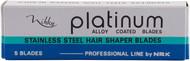 Nikky Platinum Hairdressing Razor Blades 5 Pack
