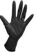 Robert De Soto Black Satin Ultra Gloves 1 Pair