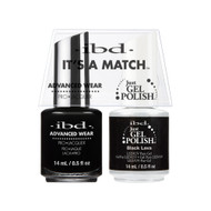 IBD Gel Polish & Lacquer  Duo - Black Lava