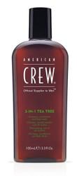American Crew 3-in-1 Tea Tree Shampoo, Conditioner and Body Wash 450ml