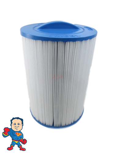 "Filter 8 1/4"" Tall x 6' Wide 1-1/2""SAE Threaded 40sqft Fits Front Load Filter Housings"