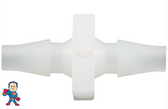 """Air Tubing, Coupler, 1/8"""" Barb x 1/8"""" Barb, Tube used on Air Switches and Buttons"""