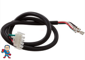 "Male, Amp, Pump Cord, (2) Speed, 14 Gage, 4 Wire,  31"" ,  Red, Black, White, Green"