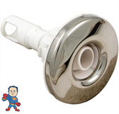 "Jet Internal, Waterway,  Adjustable, Cluster Storm, 2"" face diameter, Directional, Smooth, Stainless Steel, White"