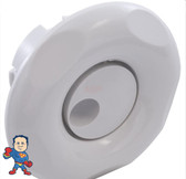 "Jet Internal, CMP, Snap In Neck Jet, 2-1/2"" face diameter, Whirly, 5 Scallop, White, No Prongs"