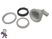 "Jet Body Kit, Pentair, Cyclone Micro, Air 3/8"" Barb x Water 3/4"" Barb, Body, Nut, Gasket & Ring"