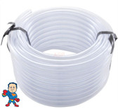 "Air or Water Tubing, Vinyl, 3/8"" id x 1/2""od, 50ft Roll"